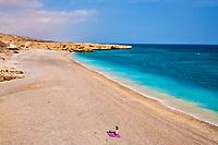 Sultanat d'Oman, gouvernorat de Ash Sharqiyah, plage à coté du Wadi ash Shab // Sultanat of Oman, governorate of Ash Sharqiyah, beach near Wadi ash Shab