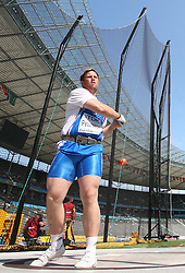 Bergur Ingi Petursson (ISL) competes in the men's Hammer Throw qualifying event of the 2009 IAAF Athletics World Championships on August 15, 2009 in Berlin, Germany. (Photo by Vid Ponikvar / Sportida)