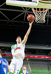 Aleksandar Lazic of Petrol Olimpija during 2nd leg basketball match between KK Petrol Olimpija and KK Rogaska in quarter final of  Pokal SPAR 2018/19, on January 14, 2019 in Arena Stozice, Ljubljana, Slovenia. Photo by Matic Ritonja / Sportida