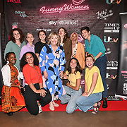 Lynne Parker founder of the Funny Women Awards and New Talent nominees at the Bloomsbury Theatre, London on 23rd September 2021.