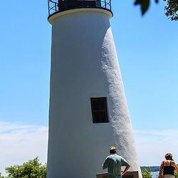 North East, MD, USA - June 29, 2011: The Turkey Point Light is a historic lighthouse at the head of the Chesapeake Bay in Maryland.