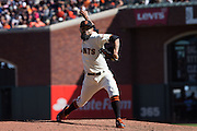 San Francisco Giants relief pitcher Sergio Romo (54) pitches against the Los Angeles Dodgers at AT&T Park in San Francisco, Calif., on October 1, 2016. (Stan Olszewski/Special to S.F. Examiner)