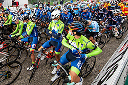POGACAR Tadej of Slovenia, POLANC Jan of Slovenia, BRAJKOVIC Janez of Slovenia and ROGLIC Primoz of Slovenia during Men Elite Road Race at UCI Road World Championship 2020, on September 27, 2020 in Imola, Italy. Photo by Vid Ponikvar / Sportida