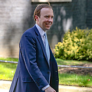 Britain's Health Secretary Matt Hancock leaves Downing Street in London as the country is in lockdown to help stop the spread of coronavirus, Wednesday, May 20, 2020. (Photo/ Vudi Xhymshiti)
