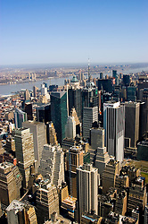 New York City, New York: View from top of the Empire State Bldg  .Photo #: ny294-15017  .Photo copyright Lee Foster, www.fostertravel.com, lee@fostertravel.com, 510-549-2202.