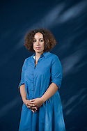 Acclaimed Moroccan-born catalonian writer Najat El-Hachmi, pictured at the Edinburgh International Book Festival where she talked about her latest book entitled 'The Last Patriarch.' The three-week event is the world's biggest literary festival and is held during the annual Edinburgh Festival. The 2010 event featured talks and presentations by more than 500 authors from around the world.