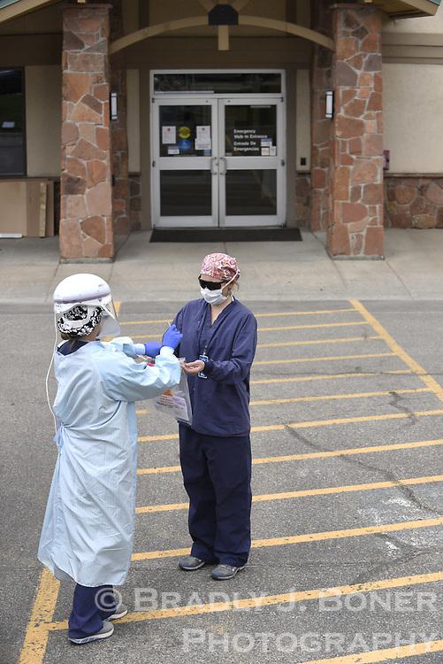 Testing for coronavirus at St. John's Health