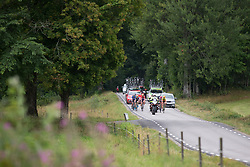 The break starts the second half of the long loop of the Crescent Vargarda - a 152 km road race, starting and finishing in Vargarda on August 13, 2017, in Vastra Gotaland, Sweden. (Photo by Balint Hamvas/Velofocus.com)