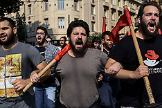 Students demonstrate against newly announced educational reforms, Athens, 17 October 2019