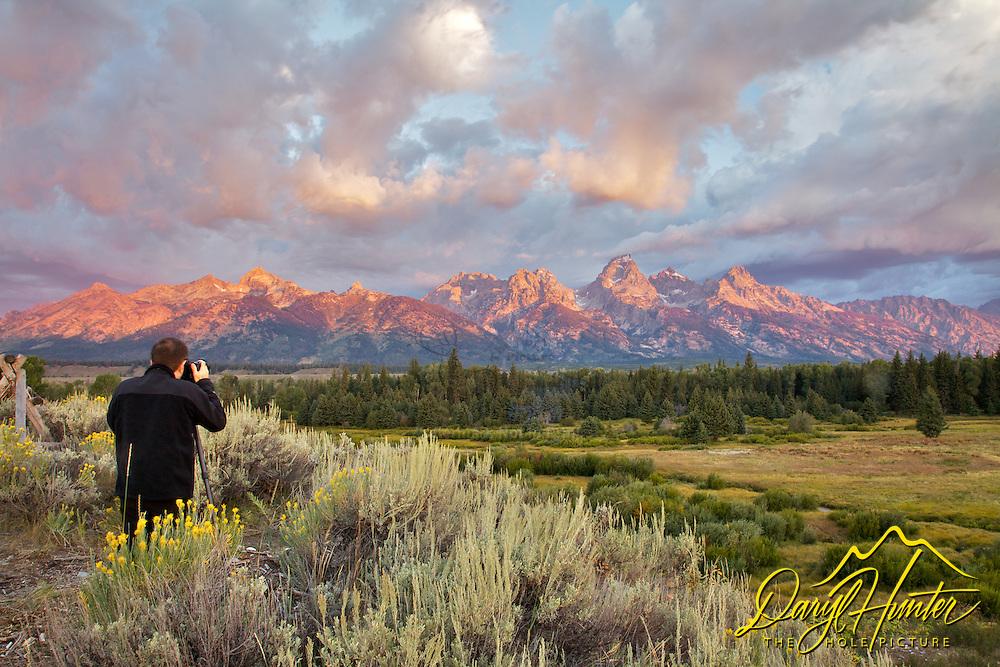 Photograher, Grand Teton Sunrise, Grand Teton National Park