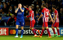 Jamie Vardy of Leicester City cuts a frustrated figure - Mandatory by-line: Robbie Stephenson/JMP - 18/04/2017 - FOOTBALL - King Power Stadium - Leicester, England - Leicester City v Atletico Madrid - UEFA Champions League Quarter-Final Second Leg