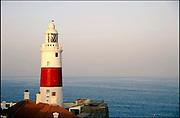 Spanje, Gibraltar, 7-6-2006..Uitzicht op de straat van Gibraltar. Marokko. Costa de Luz. Spanje wilt een tunnel, spoortunnel aanleggen tussen Tarifa en Tanger...Foto: Flip Franssen