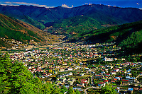 Overview of Thimphu, Bhutan
