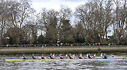 Putney, London,  Goldie Isis Race pass along the Bishop's Park Wall. before the 156th University Boat Race  over  the Championship Course,  Putney to Mortlake. on Saturday  03/04/2010 [Mandatory Credit Peter Spurrier/ Intersport Images]