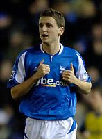 Photo: Glyn Thomas.<br />Birmingham City v Torquay United. The FA Cup. 17/01/2006.<br />Birmingham's Alex Bruce, son of manager Steve.