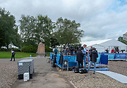 Glasgow, Scotland, Friday, 3rd  August 2018, Crews, Athletes being interview in the, Mixed Zone, at the,  European Games, Rowing, Strathclyde Park, North Lanarkshire, © Peter SPURRIER/Alamy Live News