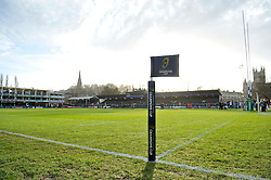 A general view of the Recreation Ground pitch - Mandatory byline: Patrick Khachfe/JMP - 07966 386802 - 23/01/2016 - RUGBY UNION - The Recreation Ground - Bath, England - Bath Rugby v RC Toulon - European Rugby Champions Cup.