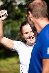August 7, 2018 - VÃ…LÃ…Dalen, SVERIGE - 180807 Moa Molander Kristiansen under en pressträff den 7 Augusti 2018 i VÃ¥lÃ¥dalen  (Credit Image: © Johan Axelsson/Bildbyran via ZUMA Press)