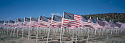 Field of 1,000 USA flags in Questa, NM