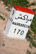 a distance sign for marakech in morocco Morocco travel photography