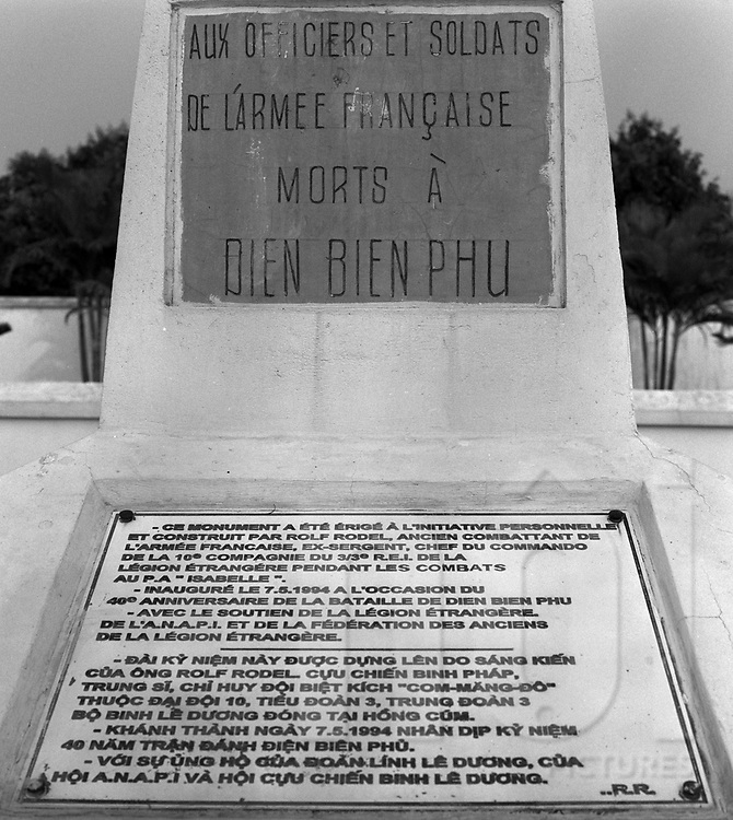 Commemoration grave for french dead soldiers in the area of Dien Bien Phu