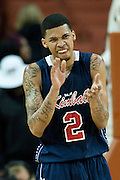 Keith Frazier (2) of Dallas Kimball cheers as Kimball stretched their lead in the final minutes against San Antonio Northside Brennan during the UIL Conference 4A semifinals at the Frank Erwin Center in Austin on Thursday, March 7, 2013. (Cooper Neill/The Dallas Morning News)