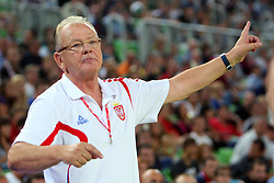 Dusan Ivkovic coach of Serbia at friendly match between Serbia and Croatia for Adecco Cup 2011 as part of exhibition games before European Championship Lithuania on August 9, 2011, in SRC Stozice, Ljubljana, Slovenia. (Photo by Urban Urbanc / Sportida)