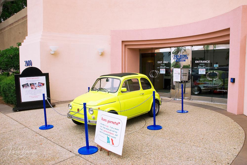 The San Diego Automotive Museum in Balboa Park, San Diego, California