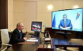September 23, 2021 - RUS: President Vladimir Putin Meets with Head El Alexander Yevstifeyev