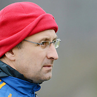20 January 2013; Tipperary manager Peter Creedon watches his team in action against Waterford. McGrath Cup, Semi-Final, Tipperary v Waterford, Sean Treacy Park, Tipperary.Picture credit: Matt Browne / SPORTSFILE
