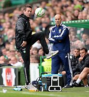 16/08/14 SCOTTISH PREMIERSHIP<br /> CELTIC v DUNDEE UTD<br /> CELTIC PARK - GLASGOW<br /> Celtic manager Ronny Deila shows off his ball skills