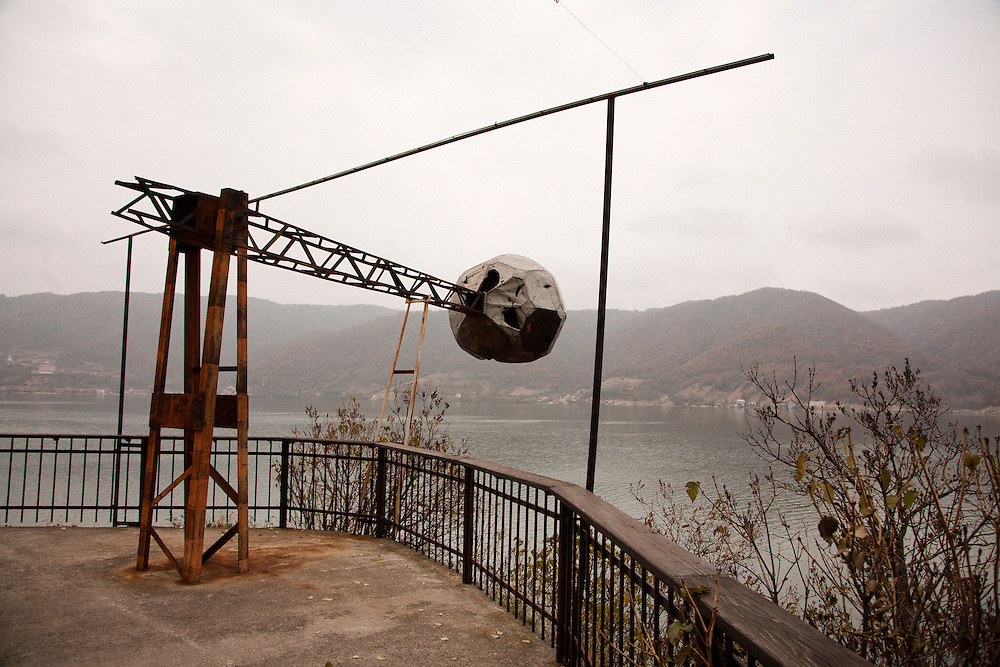Kazan Gorge on the Danube River near Donji Milanovac, Serbia. At the site of a retired signal station.. .Matt Lutton for the Financial Times.
