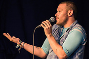 Will Young talks about his past, and the importance of being heard, in the Speakeasy -  The 2017 Latitude Festival, Henham Park. Suffolk 14 July 2017