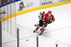 TOMAZEVIC Blaz vs PLANKO David during summer Hockey League match between HK SZ Olimpija and HDD SIJ Jesenice, on September 12, 2020 in Ice Arena Bled, Bled, Slovenia. Photo by Peter Podobnik / Sportida