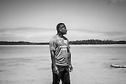 Portrait de Octave Douépéré du clan de la mer - Tribu de Vao - Île des Pins - NC - 2014