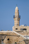 The minaret of the Siksik Mosque in Jaffa, Israel