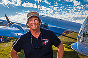 David Marco and his fully restored and airworthy Lockheed 12A Electra Junior.  Created for General Aviation News.  <br /> <br /> Created by aviation photographer John Slemp of Aerographs Aviation Photography. Clients include Goodyear Aviation Tires, Phillips 66 Aviation Fuels, Smithsonian Air & Space magazine, and The Lindbergh Foundation.  Specialising in high end commercial aviation photography and the supply of aviation stock photography for advertising, corporate, and editorial use.