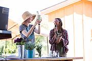 Content Magazine hosts its Garden & Flower Content Lab at Veggielution on Emma Prusch Farm Park in San Jose, California, on May 14, 2016. (Stan Olszewski/SOSKIphoto)