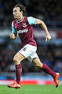 Mark Noble of West Ham United in action. Barclays Premier league match, West Ham Utd v Stoke city at the Boleyn Ground, Upton Park  in London on Saturday 12th December 2015.<br /> pic by John Patrick Fletcher, Andrew Orchard sports photography.