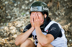 Lisa Leitner of Austria reacts after disqualification after competing in Final of Kayak K1 Women during Day 4 of 2017 ECA Canoe Slalom European Championships, on June 4, 2017 in Tacen, Ljubljana, Slovenia. Photo by Vid Ponikvar / Sportida