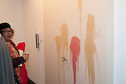 SAM STIRLING, 'Engagement' exhibition of work by Jennifer Rubell. Stephen Friedman Gallery. London. 7 February 2011. -DO NOT ARCHIVE-© Copyright Photograph by Dafydd Jones. 248 Clapham Rd. London SW9 0PZ. Tel 0207 820 0771. www.dafjones.com.