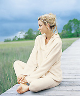 I captured this peacful moment of Nicole meditating in South Carolina for Boston Proper.