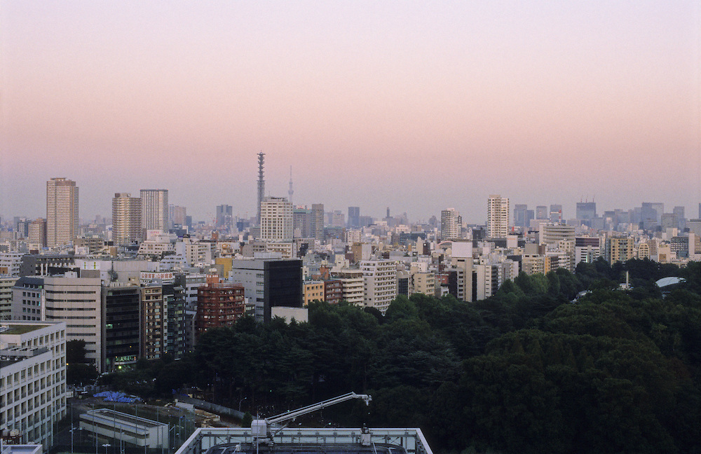 View of a small part of Tokyo, looking out over Shinjuku. Tokyo is the worlds largest metropolitan area.
