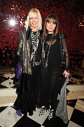 Left to right, VIRGINIA BATES and her daughter DAISY BATES at a party to celebrate the 10th Anniversary of Claridge's Bar, Claridge's Hotel, Brook Street, London on 11th November 2008.