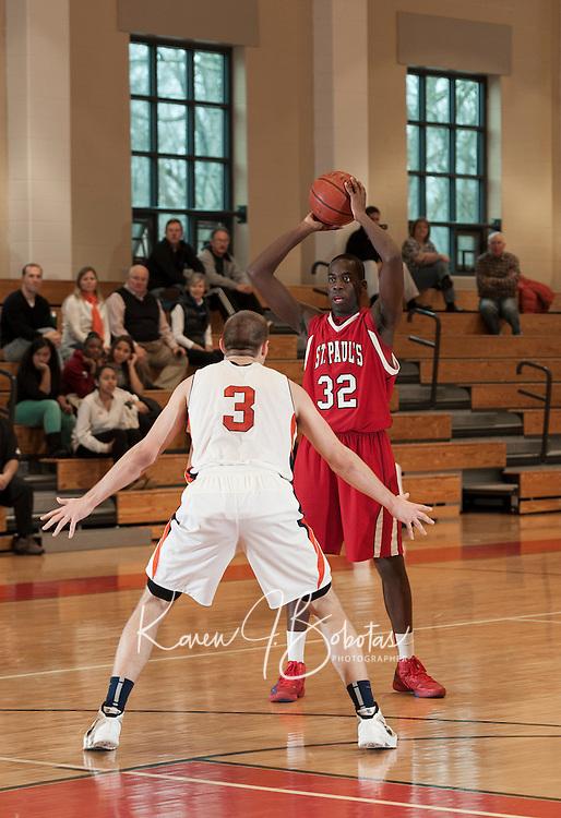 St Paul's School versus Milton boys varsity basketball January 12, 2013.  (Karen Bobotas/St Paul's School)