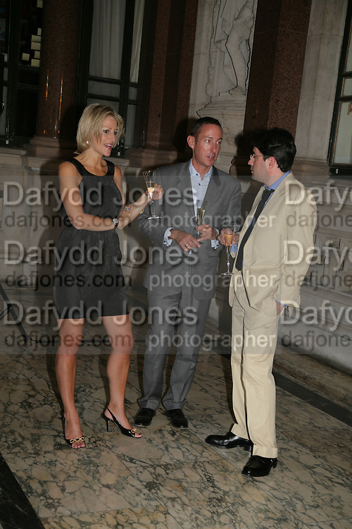 Emily Maitlis, Simon Page and Ben Schott , 10th Anniversary of Conde Nast Traveller magazine. Foreign and Comonwealth Office. Durbar Court. 10 September 2007. -DO NOT ARCHIVE-© Copyright Photograph by Dafydd Jones. 248 Clapham Rd. London SW9 0PZ. Tel 0207 820 0771. www.dafjones.com.