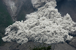 April 5, 2017 - North Sumatra, Indonesia - Mount Sinabung volcano spews smoke and ash in a landslide near Beganding Village. The volcano has been put on highest level of alert since June 2015 following a significant increase of activity. (Credit Image: © Xinhua via ZUMA Wire)