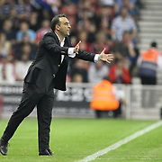 Besiktas's coach Carlos CARVALHAL during their UEFA Europa League Group E soccer match Besiktas between Stoke at Stoke Stadium in Stoke-on-Trent City England on Thursday September 29, 2011. Photo by TURKPIX