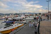 Tourists at The port of Batumi, Georgia
