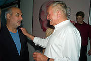 ALAN YENTOB AND SIR RICHARD ROGERS, These Foolish Things, charity evening hosted by Sir Richard and Lady Rogers. Chelsea. London. 7 May 2008.  *** Local Caption *** -DO NOT ARCHIVE-© Copyright Photograph by Dafydd Jones. 248 Clapham Rd. London SW9 0PZ. Tel 0207 820 0771. www.dafjones.com.
